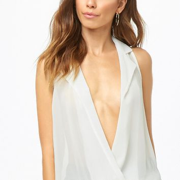 Plunging Chiffon Top