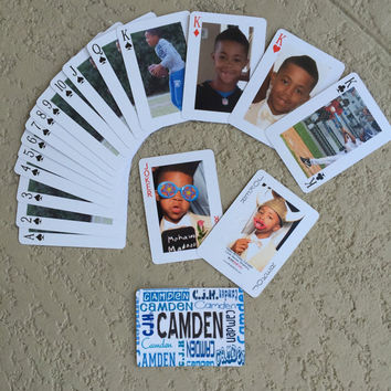 Photo Playing Cards, Poker or Pinochle, Personalized Decks of Cards, Customized Playing Cards