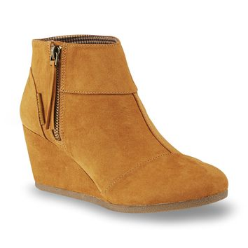 Women's Emmy Brown Wedge Bootie - Kmart