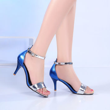 2016 women shoes brand ZA R high heels sandals pump wedding shoes sexy party high heels T stage Patent leather wedding shoes