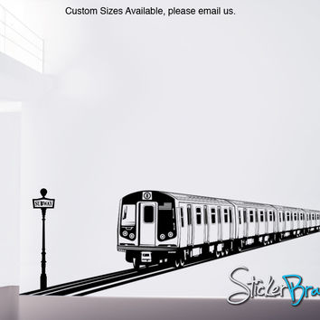 Vinyl Wall Decal Sticker NYC Subway Train #OS_ES107