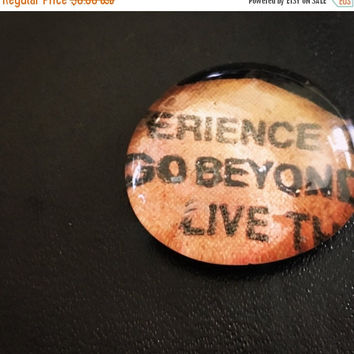 On Sale GO Beyond Comic Glass Pebble Magnet/Pin