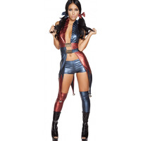 Roma Costume 4599 -  5pc Sexy Jester Babe Women's Costume
