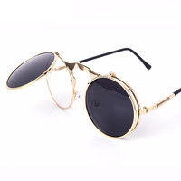Retro CIRCLE Vintage Steam Punk Oculos Sunglasses (UNISEX)