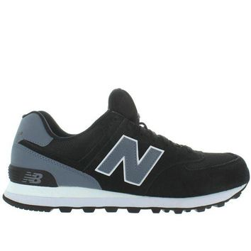 ONETOW new balance 574 black suede mesh classic running sneaker