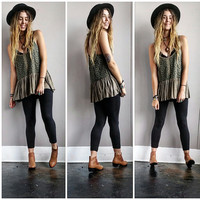 A Wanderlust Trail Tank in Olive