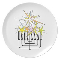 HANNUKKAH LIGHTS PLATE