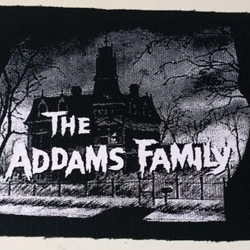 ADDAMS FAMILY patch horror punk goth Free Shipping