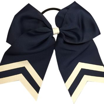 Softball Hair Bow- Navy