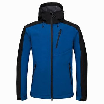 SCRIOSADH Outdoor Sports Soft shell Male Fleece Jacket Waterproof Quick Dry Jacket Camping Hiking Windproof Breathable Jacket