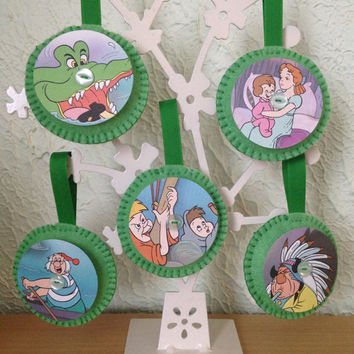 Vintage Disney Felt Decorations - Peter Pan Set