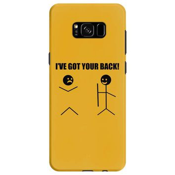 i've got your back t shirt tee funny novelty tee pun stick figure joke Samsung Galaxy S8