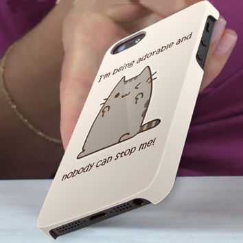 pushen cat nobody can stop me 3D iPhone Cases for iPhone 4,iPhone 4s,iPhone 5,iPhone 5s,iPhone 5c,Samsung Galaxy s3,samsung Galaxy s4