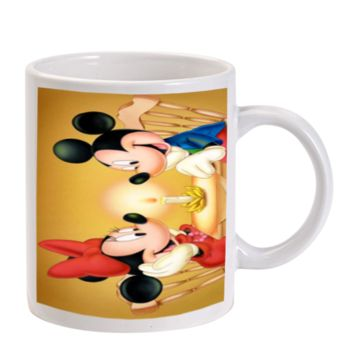 Gift Mugs | Mickey Mouse Dinner With Minnie Mouse Ceramic Coffee Mugs