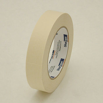Shurtape CP-101 General Purpose Grade Crepe Paper Masking Tape: 1 in. x 60 yds. (Natural)