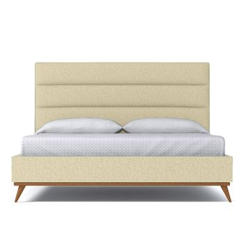 Cooper Upholstered Bed EASTERN KING in BISQUE - CLEARANCE
