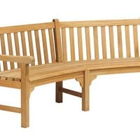 Oxford Garden Essex 83-Inch Curved Shorea Bench
