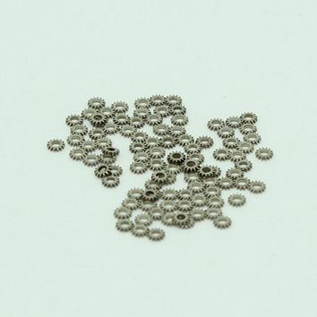 100pcs/lot 2mm Micro Gear  Nail Studs Silver 3D Nail Decoration For UV Gel Nails Art Wheel Steampunk Watch Parts Accessories