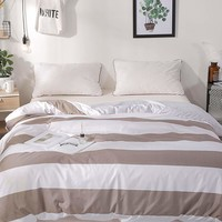 Allover Striped & Gingham Print Duvet Cover 1PC
