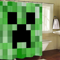 Minecraft Creeper Shower Curtain