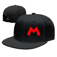 HAOHAO Super Mario Adjustable Snapback Baseball Flat Caps Hats
