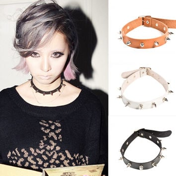 Stylish Jewelry Gift Shiny New Arrival Accessory Punk Rivet Necklace [9052194500]