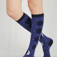 Cosmic Satellite on Your Feet Socks Size OS by ModCloth