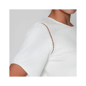 OROCÉO CASTRO Ivory Sinta Blouse with Stitching Detail