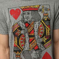 King Of Hearts Tee- Grey
