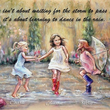 "PERSONALIZED, ""Come Dance With Me My Friends"" Names, Hair-color, quotes added, Girls, Sisters Daughters  Laurie Shanholtzer"