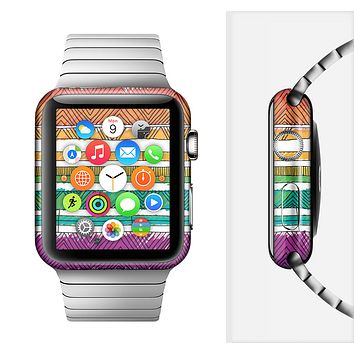 The Crayon Colored Doodle Patterns Full-Body Skin Set for the Apple Watch