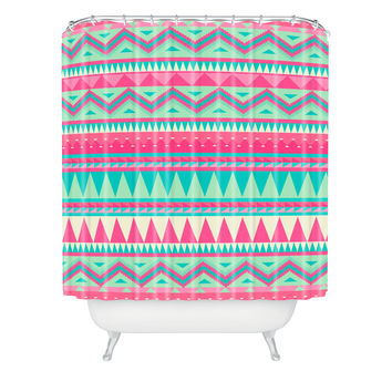 Iveta Abolina Pink Navajo Shower Curtain