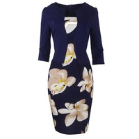 One Piece Fall Floral Dress