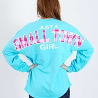 Just a Small Town Girl Spirit Jersey Pullover Shirt J0470GSTG