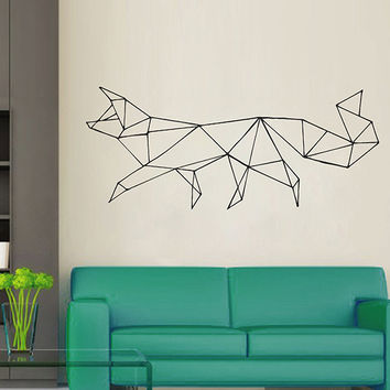 kik2950 Wall Decal Sticker animal fox living room bedroom geometric style