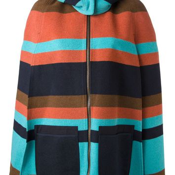 See By Chloé striped poncho jacket