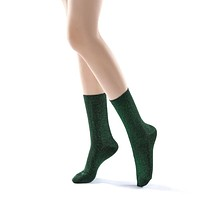 Glitterati Sock | Jungle Green