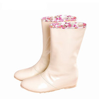 Sale ! Women's Shoes Rain Boots 2015 Floral Stitching Snow Boots Winter Warm Shoes 3 Color Plus Size 34-43,Drop Shipping XWX655