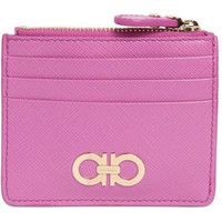 Salvatore Ferragamo Women's Saffiano Purple Leather Cardholder