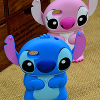 3D Disney Stich Movable Ear Flip Hard Case For iPhone4/iPhone4s