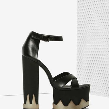 Jennifer Chou Barrow Leather Platform