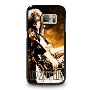 led zeppelin samsung galaxy s7 case cover  number 1