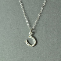 Lucky Horseshoe Necklace, 925 Sterling Silver, Modern, Simple, Pretty, Everyday Wear Jewelry