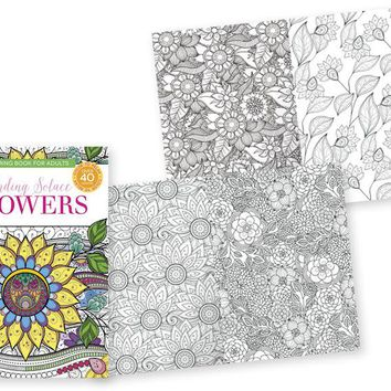 Papercraft Adult Coloring Books - Flowers - CASE OF 24