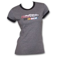 Coors Light NASCAR Ringer Charcoal Ladies Graphic Tee Shirt