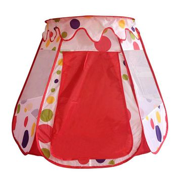 Portable Castle Play Tent Children Cubby House Foldable Pop up Tent for Kids Indoor & Outdoor Use (Dots Style)