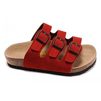 Birkenstock Orlando Sandals Suede Red