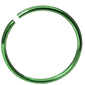 "20g Surgical Steel Titanium Anodized Green 5/16"" Small Nose Ring Hoop - Nose Piercing Jewelry"