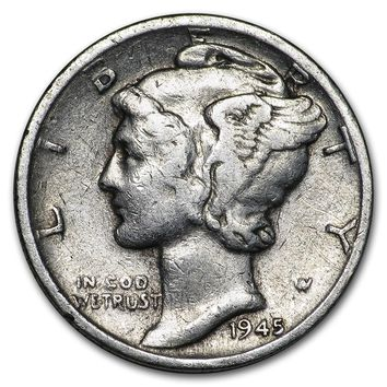 1945-D Mercury Dime Good/VF