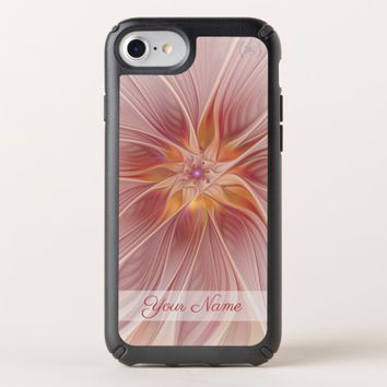 Soft Pink Floral Dream Abstract Modern Flower Name Speck iPhone Case